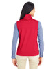 Classic Red - Back CE709W Ash City - Core 365 Ladies' Techno Lite Three-Layer Knit Tech-Shell Quarter-Zip Vest | Blankclothing.ca