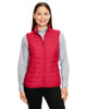Classic Red - CE702W Ash City - Core 365 Ladies' Prevail Packable Puffer Vest | Blankclothing.ca