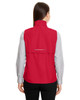 Classic Red - Back CE703W Ash City - Core 365 Ladies' Techno Lite Unlined Vest | Blankclothing.ca