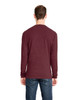 Heather Maroon, Back - 6411 Next Level Unisex Sueded Long-Sleeve Crew Shirt | Blankclothing.ca