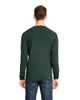 Heather Forest Green, Back - 6411 Next Level Unisex Sueded Long-Sleeve Crew Shirt | Blankclothing.ca