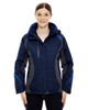Night - 78195 Ash City - North End Ladies' Height 3-in-1 Jacket with Insulated Liner | Blankclothing.ca