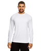 White - TT11L Team 365 Men's Zone Performance Long Sleeve T-Shirt | BlankClothing.ca