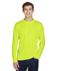 Safety Yellow - TT11L Team 365 Men's Zone Performance Long Sleeve T-Shirt | BlankClothing.ca