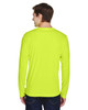 Safety Yellow - Back, TT11L Team 365 Men's Zone Performance Long Sleeve T-Shirt | BlankClothing.ca