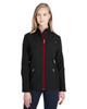 Black/Red - 187337 Spyder Ladies' Transport Softshell Jacket | BlankClothing.ca
