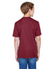 Sport Maroon Heather - Back, TT11HY Team 365 Youth Sonic Heather Performance T-Shirt | BlankClothing.ca