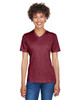 Sport Maroon Heather - TT11HW Team 365 Ladies' Sonic Heather Performance T-Shirt | BlankClothing.ca
