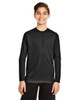 Black - TT11YL Team365 Youth Zone Performance Long Sleeve T-shirt | BlankClothing.ca
