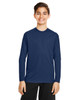 Sport Dark Navy -  TT11YL Team365 Youth Zone Performance Long Sleeve T-shirt | BlankClothing.ca
