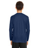 Sport Dark Navy - Back, TT11YL Team365 Youth Zone Performance Long Sleeve T-shirt | BlankClothing.ca