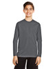 Sport Graphite  - TT11YL Team365 Youth Zone Performance Long Sleeve T-shirt | BlankClothing.ca