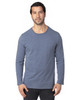 Navy Heather - 100LS Threadfast Unisex Ultimate Long-Sleeve T-Shirt | T-shirt.ca