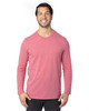 Red Heather - 100LS Threadfast Unisex Ultimate Long-Sleeve T-Shirt | T-shirt.ca