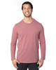 Maroon Heather - 100LS Threadfast Unisex Ultimate Long-Sleeve T-Shirt | T-shirt.ca