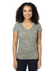 Green Hex Camo - 200RV Threadfast Ladies' Ultimate Short-Sleeve V-Neck T-Shirt | BlankClothing.ca