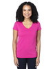 Hot Pink - 200RV Threadfast Ladies' Ultimate Short-Sleeve V-Neck T-Shirt | BlankClothing.ca