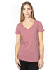 Maroon Heather - 200RV Threadfast Ladies' Ultimate Short-Sleeve V-Neck T-Shirt | BlankClothing.ca