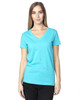 Pacific Blue - 200RV Threadfast Ladies' Ultimate Short-Sleeve V-Neck T-Shirt | BlankClothing.ca