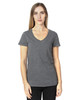 Charcoal Heather - 200RV Threadfast Ladies' Ultimate Short-Sleeve V-Neck T-Shirt | BlankClothing.ca