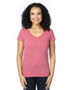 Red Heather - 200RV Threadfast Ladies' Ultimate Short-Sleeve V-Neck T-Shirt | BlankClothing.ca