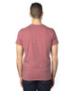 Maroon Heather -Back,  100A Threadfast Unisex Ultimate Short-Sleeve T-Shirt | BlankClothing.ca