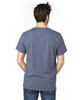 Navy Heather - Back,  100A Threadfast Unisex Ultimate Short-Sleeve T-Shirt | BlankClothing.ca