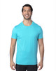 Pacific Blue - 100A Threadfast Unisex Ultimate Short-Sleeve T-Shirt   BlankClothing.ca