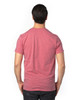 Red Heather - Back, 100A Threadfast Unisex Ultimate Short-Sleeve T-Shirt | BlankClothing.ca
