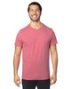 Red Heather - 100A Threadfast Unisex Ultimate Short-Sleeve T-Shirt   BlankClothing.ca