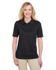 Black - M348W Harriton Ladies' Advantage Snag Protection Plus IL Polo Shirt | Blankclothing.ca