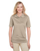 Khaki - M348W Harriton Ladies' Advantage Snag Protection Plus IL Polo Shirt | Blankclothing.ca