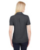 Black Heather - Back, DG22W Devon & Jones Ladies' CrownLux Performance™ Address Mélange Polo Shirt | BlankClothing.ca