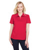 Red Heather - DG22W Devon & Jones Ladies' CrownLux Performance™ Address Mélange Polo Shirt | BlankClothing.ca