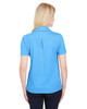 Ocean Blue Heather - Back, DG22W Devon & Jones Ladies' CrownLux Performance™ Address Mélange Polo Shirt | BlankClothing.ca