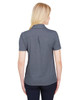 Navy Heather - Back, DG22W Devon & Jones Ladies' CrownLux Performance™ Address Mélange Polo Shirt | BlankClothing.ca