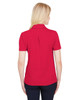 Red Heather - Back, DG22W Devon & Jones Ladies' CrownLux Performance™ Address Mélange Polo Shirt | BlankClothing.ca