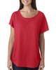 Vintage Red -  6760 Next Level Ladies' Triblend Dolman Shirt | BlankClothing.ca