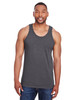 Charcoal Heather - CP30 Champion Men's Ringspun Cotton Tank Top | BlankClothing.ca