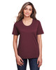 Burgundy - CE111W Core 365 Ladies' Fusion ChromaSoft™ Performance T-Shirt | BlankClothing.ca