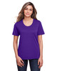 Campus Purple - CE111W Core 365 Ladies' Fusion ChromaSoft™ Performance T-Shirt | BlankClothing.ca