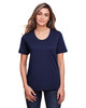 Classic Navy - CE111W Core 365 Ladies' Fusion ChromaSoft™ Performance T-Shirt | BlankClothing.ca