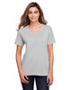 Platinum - CE111W Core 365 Ladies' Fusion ChromaSoft™ Performance T-Shirt | BlankClothing.ca