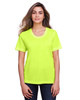 Safety Yellow - CE111W Core 365 Ladies' Fusion ChromaSoft™ Performance T-Shirt | BlankClothing.ca