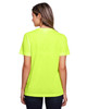 Safety Yellow - Back, CE111W Core 365 Ladies' Fusion ChromaSoft™ Performance T-Shirt | BlankClothing.ca