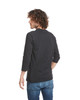 Black/Black - Back, 6251 Next Level Unisex CVC 3/4 Sleeve Raglan Baseball T-Shirt | BlankClothing.ca
