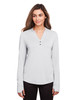 Platinum - NE400W North End Ladies' Jaq Snap-Up Stretch Performance Pullover Long Sleeve Shirt | BlankClothing.ca