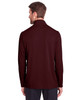 Burgundy - Back, NE400 North End Men's Jaq Snap-Up Stretch Performance Pullover Long Sleeve Shirt | BlankClothing.ca