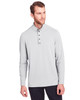 Platinum - NE400 North End Men's Jaq Snap-Up Stretch Performance Pullover Long Sleeve Shirt | BlankClothing.ca