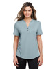 Opal Blue - NE100W North End Ladies' Jaq Snap-Up Stretch Performance Polo | BlankClothing.ca